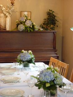 CONFIRMATION TABLE DECOR | Transform your dining room into an elegant banquet setting! These ... Baptism Party, Baptism Ideas, Wow Products, Confirmation, Communion, Hydrangea, Home Improvement, Bridal Shower, Table Settings