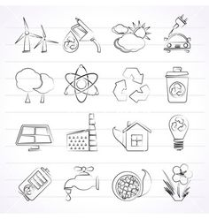 Environment and recycling icons vector by stoyanh on VectorStock®