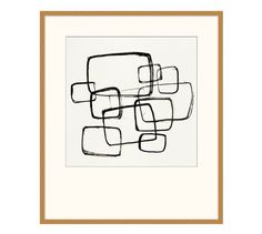 Black Squares Framed Print | Pottery Barn