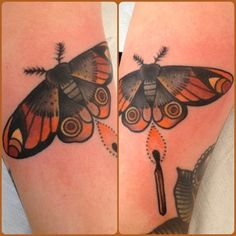 old school moth tattoo - Google Search