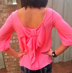 The Willow Tree - Bow to Me top (coral), $29.95 (http://willow-tree.mybigcommerce.com/bow-to-me-top-coral/)