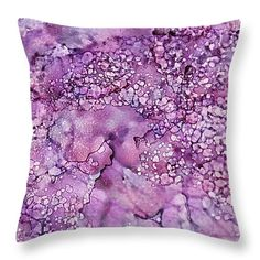"""Purple Pebbles 14"""" x 14"""" Throw Pillow by Tammy Finnegan.  Our throw pillows are made from 100% cotton fabric and add a stylish statement to any room.  Pillows are available in sizes from 14"""" x 14"""" up to 26"""" x 26"""".  Each pillow is printed on both sides (same image) and includes a concealed zipper and removable insert (if selected) for easy cleaning."""