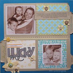 like the design on this one, and fun colors! by Nichol Magouirk #scrapbooking