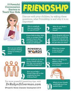 10 Powerful Conversation Starters to Teach Your Kids Friendship