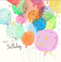 Leading Illustration & Publishing Agency based in London, New York & Marbella. Son Birthday Quotes, Happy Birthday Girls, Happy Birthday Friend, Happy Birthday Balloons, Happy Birthday Images, Birthday Pictures, Sister Birthday, 21 Birthday, Happy Birthday Wishes Cards
