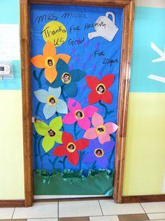 Teacher door for spring