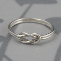 Infinity Knot Love Knot Ring in Solid Sterling Silver--Double Endless Knot Ring--Promise Ring Friendship Ring--Custom made in YOUR size $35