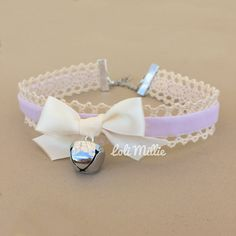 Hey, I found this really awesome Etsy listing at https://www.etsy.com/listing/227892717/lavender-kitty-bell-chokers-kawaii-hime