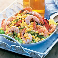 Fourth of July Food - All American Recipes - Delish.com grilled shrimp corn and tomatoe salad