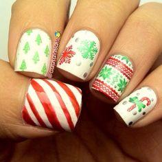 Christmas by captain8bit  #nail #nails #nailart