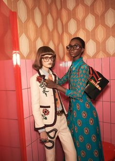 "edithshead: "" Peyton Knight and Nicole Atieno by Glen Luchford for Gucci s/s 2016 """