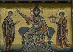 San Miniato al Monte - Mosaico facciata ( San Miniato è alla destra di Cristo ).