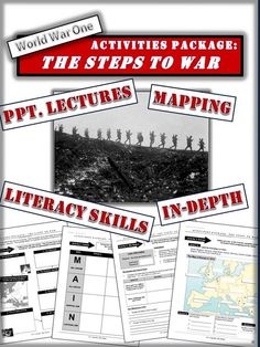 A differentiated activities package looking at the early in events of World War One. The package contains seven activities