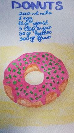 lovecold art / watercolor donut recipe