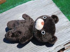 寝そべりくま※受注製作となります|ぬいぐるみ|mofu mofu|ハンドメイド通販・販売のCreema