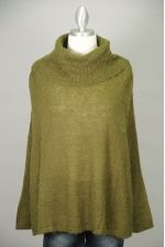 Olive Oversized Open Side Cowl Neck Sweater Thumbnail