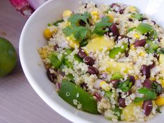 I would add some avocado to this....Southwestern Quinoa Salad with Cilantro-Lime Dressing