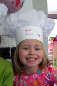 Paint in my Hair: Tissue Paper Chef's Hat Tutorial