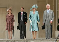 Sophie, Countess of Wessex, Prince Edward, Earl of Wessex, Prince Charles, Prince of Wales and Camilla, Duchess of Cornwall attend a garden party held at Buckingham Palace on June 3, 2013 in London, England.