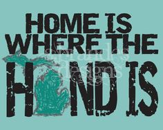 8x10 Michigan Print Home Is Where The Hand Is by SBrandesDesigns, $18.00