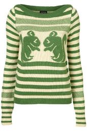Squirrel print + apple green stripes = purchase!
