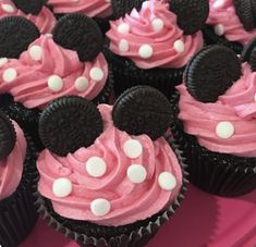 2nd Birthday Party For Girl, Minnie Mouse Birthday Decorations, Minnie Mouse First Birthday, Minnie Mouse Baby Shower, Mickey Birthday, Minnie Mouse Birthday Party Ideas, Girl Birthday Cupcakes, Cupcakes For Girls, Cupcake Ideas Birthday