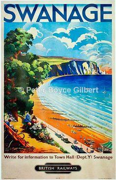 Swanage poster, British Railways
