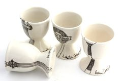 vintage upcycled china with hand drawn details