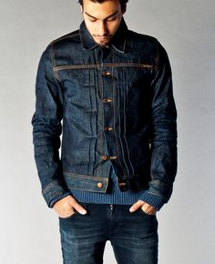 Sonny Dry Dirt Organic Denim - Nudie Jeans Co. A dry version of Sonny to break… Denim Boots, Denim Jacket Men, Denim Shirt, Denim Jeans, Nudie Jeans, Raw Denim, Love Jeans, Vintage Denim, Denim Fashion