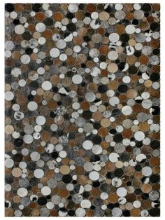 Blocks Cowhide Hand-Stitched Rug by Bashian Rugs at Gilt