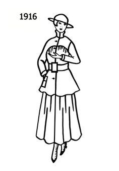 Costume Silhouettes: 1916