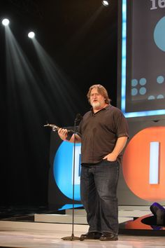 Gabe Newell. WHY HE'S AMAZING: Gabe is the founder of the video game software company Valve, responsible for amazing games such as Half-Life, Portal, Team Fortress 2, Left 4 Dead and more. Here, he is seen accepting a Hall of Fame Award at the D.I.C.E. Awards 2013.