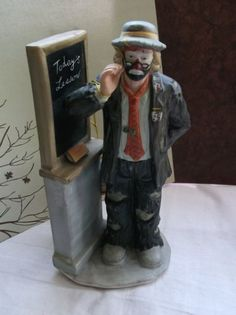 Flambro Emmett Kelly Clown Figurines