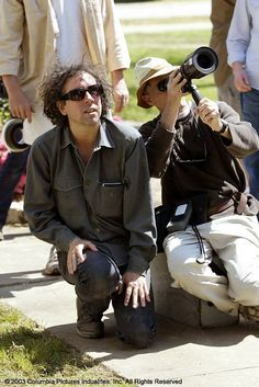 """Tim Burton directing """"Big Fish"""" (2003)"""