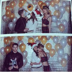 Olivia Culpo & Nick Jonas At Taylor Swift's 25th Birthday Party + Nick Kisses In A Zebra Mask - http://oceanup.com/2014/12/13/olivia-culpo-nick-jonas-at-taylor-swifts-25th-birthday-party-nick-kisses-in-a-zebra-mask/