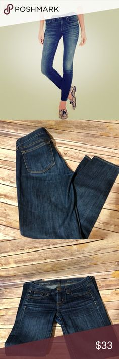 J.Crew tooth pick ankle jeans Gently worn.Lightly faded.Dark navy washed denim PRODUCT DETAILS Our skinniest style, the toothpick, is lean, cropped and a little bit sexy—and it's the pair we're most likely to tear our closet apart looking for. We made this pair in a new Turkish fabric with incredible stretch and recovery, plus a classic wash you'll have for years.  Cotton with stretch. Machine wash. J. Crew Jeans Ankle & Cropped