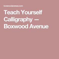 Teach Yourself Calligraphy — Boxwood Avenue