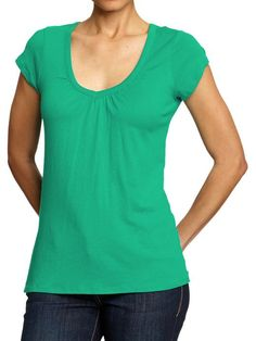 Old Navy   Women's Ruched V-Neck Tees .Family color