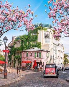Pretty Monmartre in Paris, France.