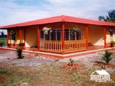 Casas prefabricadas un nivel Tropical House Design, Tropical Houses, Cute House, My House, Hacienda Homes, Simple House, Minimalist Home, Cabana, Betta