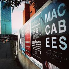 The Maccabees 60x40 campaign Manchester