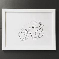 Minimal Animal | One Line | Polar Bear | Dane Khy