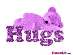 Purple Hugs Quotes | Purple Hugs Bear Image