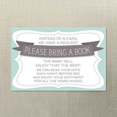 Instant Download  Baby Shower Book Request  by CreativeUnionDesign, $5.00