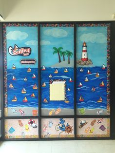 Students will sail into the next grade with Sailing and Anchor decor.