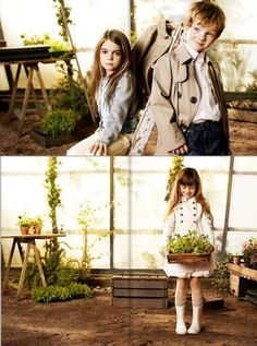 Burberry Ads by Igor Borisov Look Like Adult Campaigns #topbabytrends #trendykids trendhunter.com