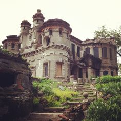 Bannerman Castle, Pollepel Island, NY.  Pollepel Island is fabled for eerie happenings going back to the 1600's. The island is owned by the New York State Office of Parks, Recreation and Historic Preservation, and is closed to the public. THE castle was built in 1908 by Francis Bannerman to house his private arsenal.