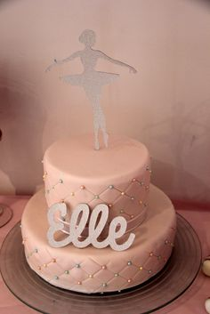 Elle's First Birthday Ballerina Party | CatchMyParty.com