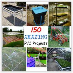 http://tinhatranch.com/150-amazing-pvc-projects/