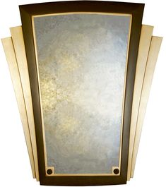 ART DECO MIRRORS | Home > Wall Mirrors > Plain Art Deco Winged Wall Mirror